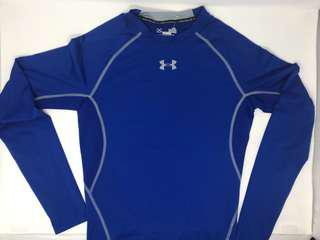Under Armour heatgear compression bright blue shirt