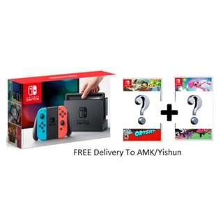 Nintendo Switch Game Bundle (Neon) (Choose Any 2 Games)