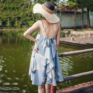 🚚 慵懶美背度假連身裙洋裝 dress