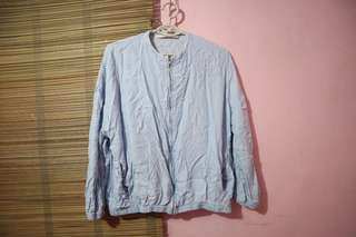 Zara bomber type jacket (light blue)
