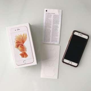 Unlocked rose gold iPhone 6s 128