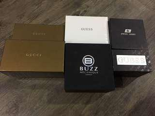 Boxes for watches & spec for sale
