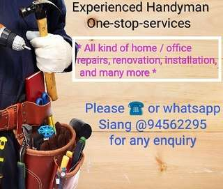 Handyman services - experience & reliable