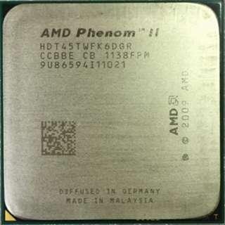 🚚 AMD Phenom II X6 1045T 六核心 AM3+  2.7G 處理器、L3快取-6MB、庫存良好備品