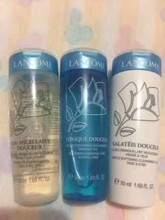 Lancome paket cleanser + toner