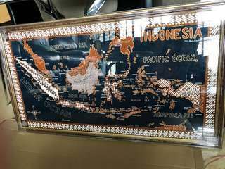 Handmade Batik Indonesia Map