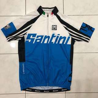 Santini Blue White cycling jersey