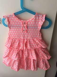 Carter's 粉紅蛋糕裙洋裝(24M)