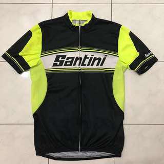Santini Yellow Black Cycling jersey