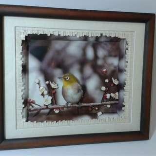Pajangan 3 Dimensi gambar Burung
