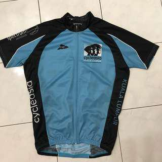 Cycle Asia blue cycling jersey