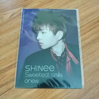 SHINee Onew L-Holder 溫流 文件夾 file 小卡
