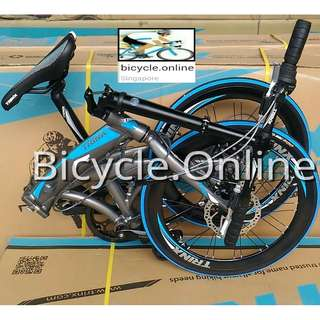 "Dolphin ★ Trinx 20"" Foldie ✩ Aluminum frame ✩ Shimano 7 Speeds ✩ fits nicely into car boots! ✩ officially allowed on bus✓ and MRT✓ ✩ Brand New Bicycle"