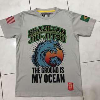 Brazilian Jiu Jitsu grey tee
