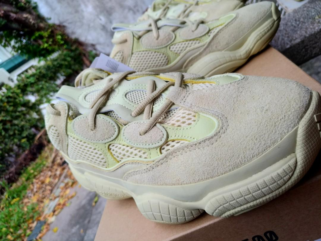 competitive price 55e77 424c5 2 Pairs of 8.5US Adidas YEEZY 500 SUPERMOON YELLOW by Kanye ...