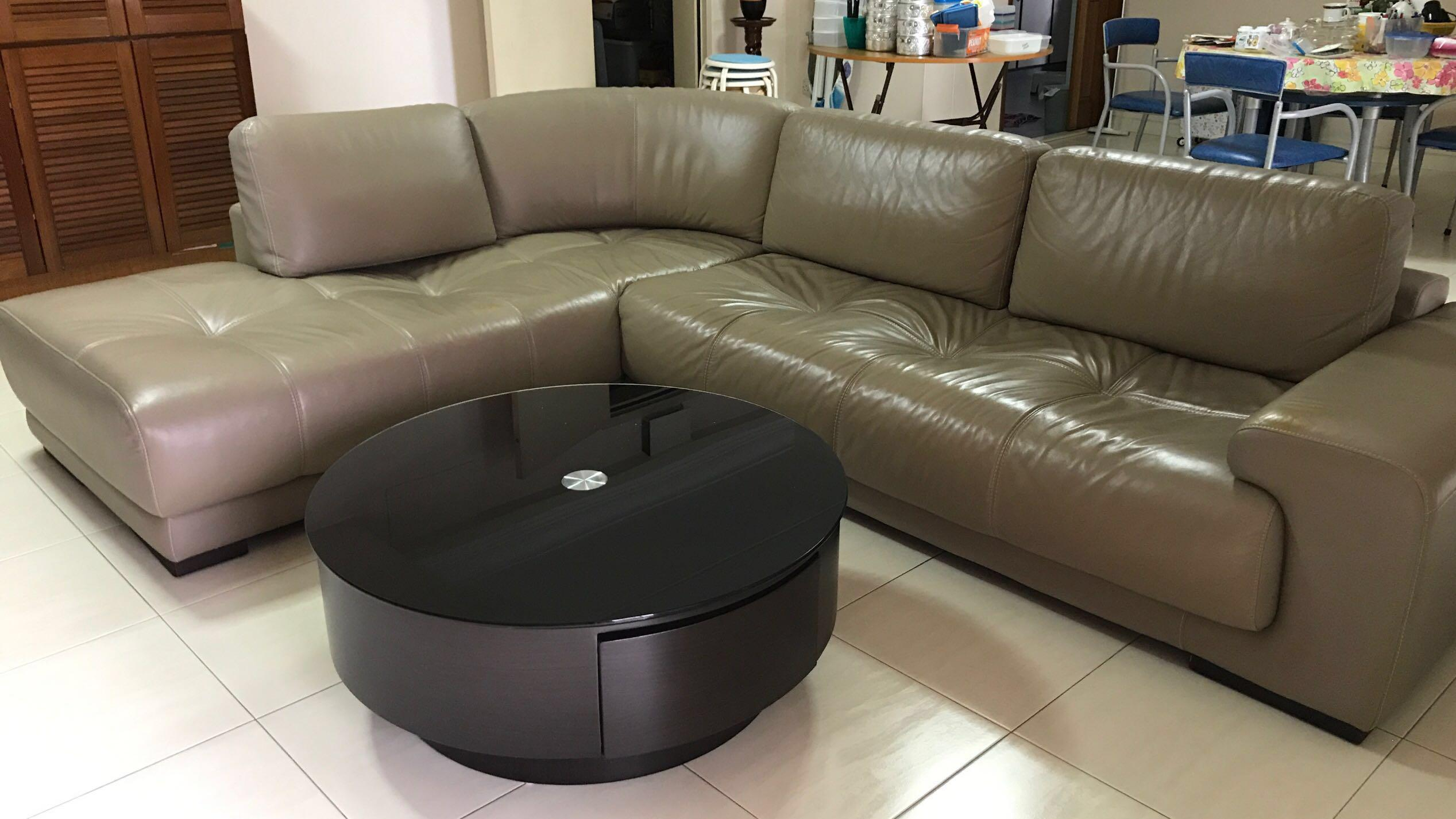 7 Seater Leather Sofa Coffee Table