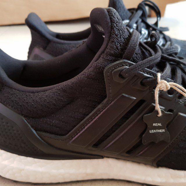 a3445c2429780 Adidas Ultra Boost Black Limited Leather Cage