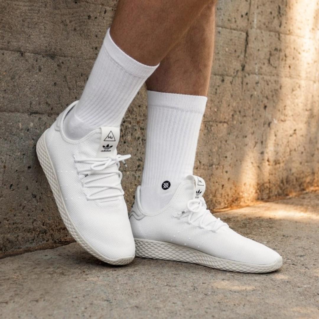 979d66696 Authentic Adidas Pharrell Williams Tennis HU White   Black