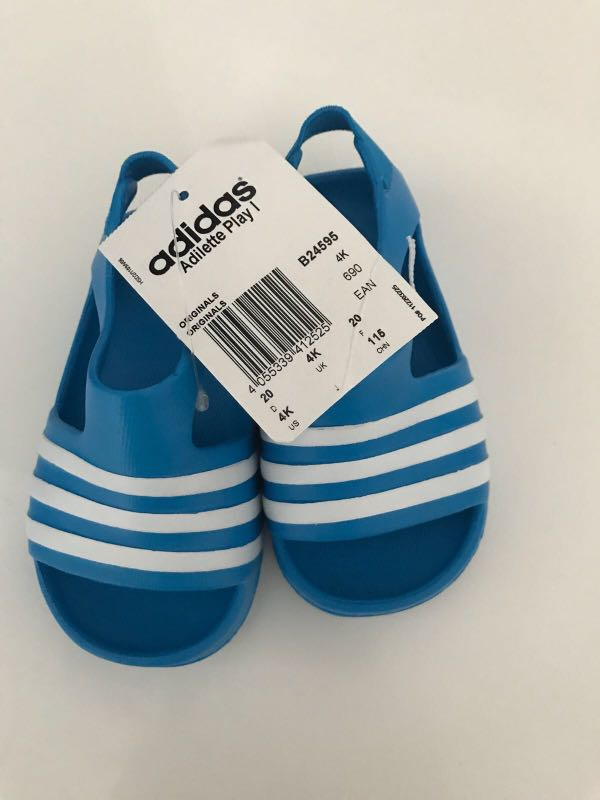 96dc86dc7d24 Authentic Original Adidas Baby Boy Adilette Play I Slides