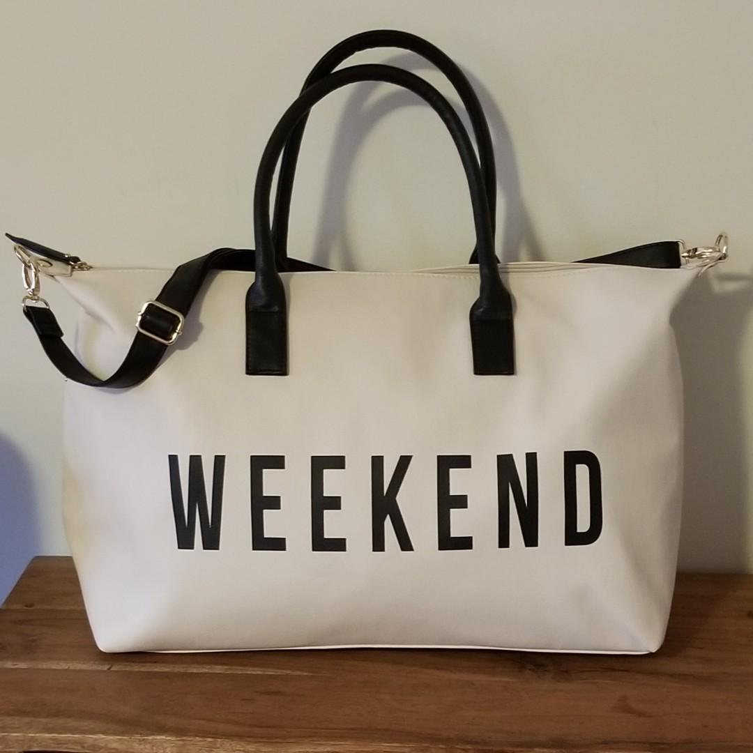 Beige Overnight Bag