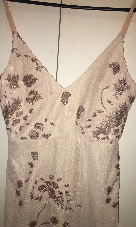 Beige/pink tiger mist dress