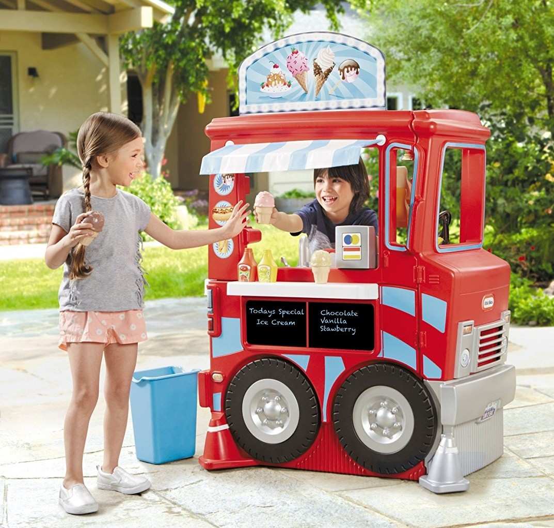 1001a191d44 PO) BN Little Tikes 2-In-1 Food Truck Kitchen Restaurant On Wheels ...