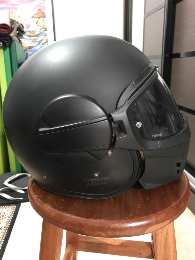 Caberg Ghost Motorcycle Helmet Replacement//Spare Pinlock Ready Visor Iridium