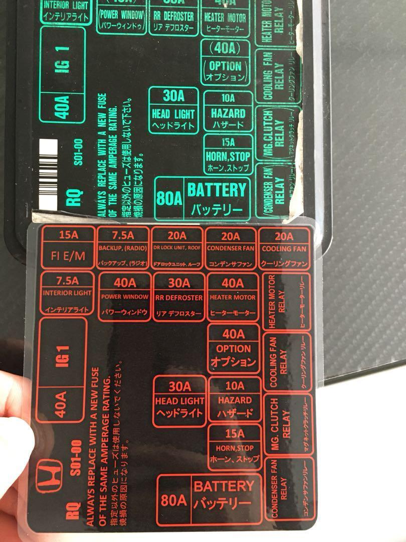 Ek4  Ek9 Fuse Box Diagram  Car Accessories  Accessories On