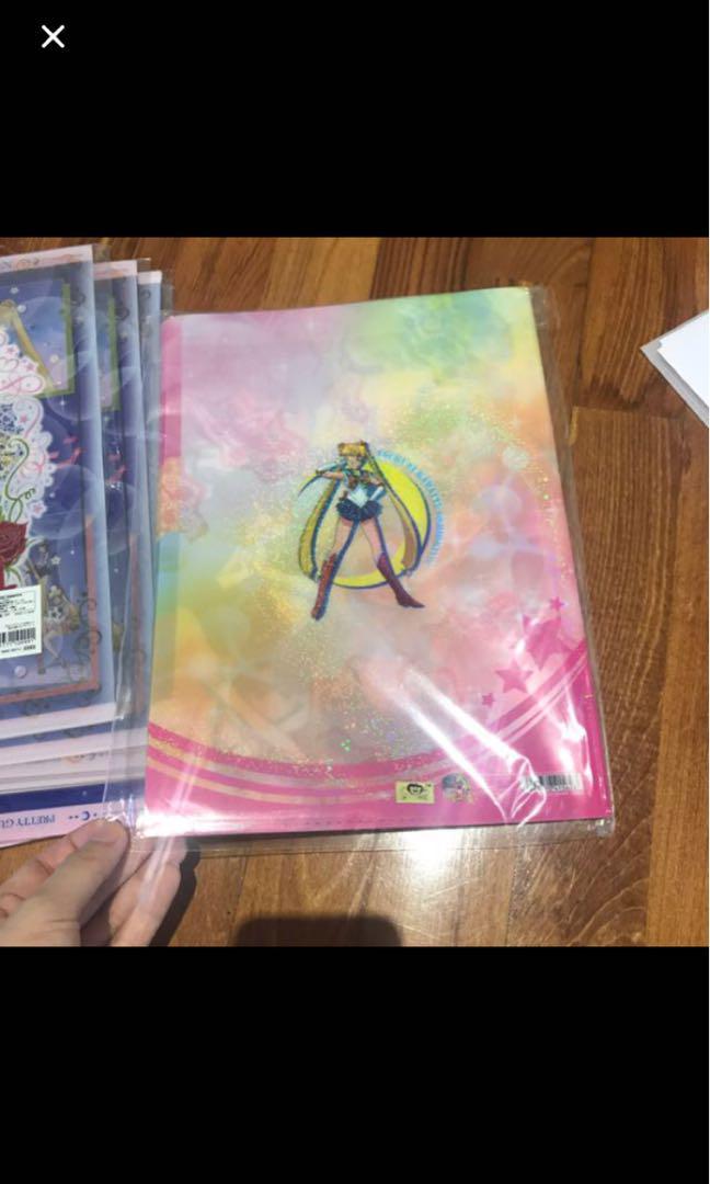 全新美少女戰士File 文件夾 A4 日本Bandai 金貼