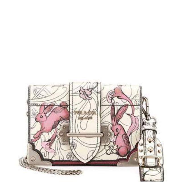 b7ee65ee71b6 Final reduction! Prada Limited Edition rabbit print sling cross body ...