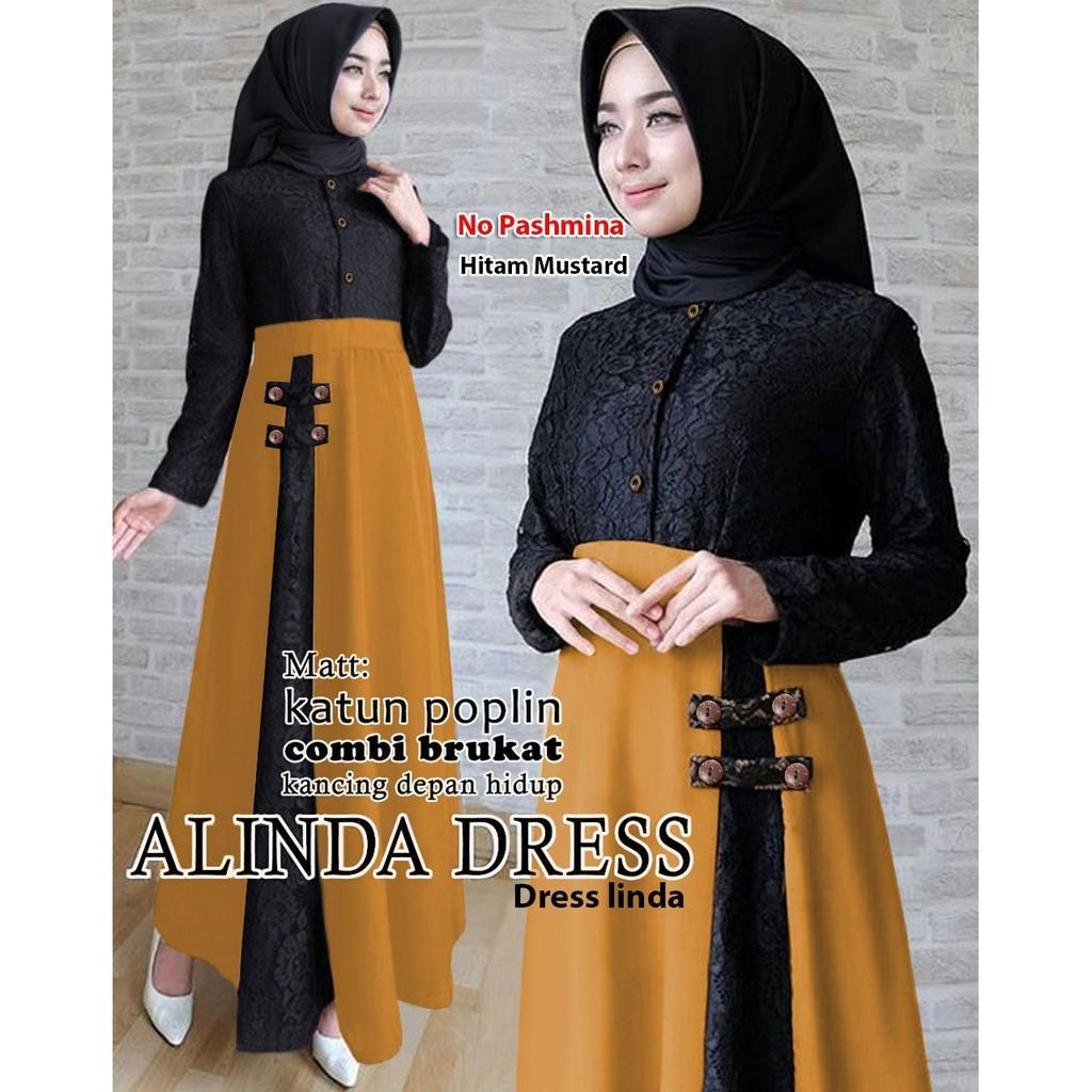Gamis Ibu Menyusui Long Dress Pesta Wanita Baju Muslim Wanita Casual Alinda Dress Fesyen Wanita Muslim Fashion Di Carousell
