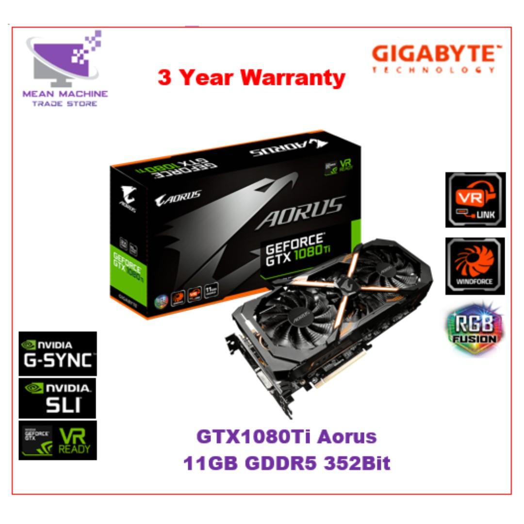 Gigabyte GV-N108TAORUS-11GD GTX1080Ti 11GB Aorus RGB Windforce