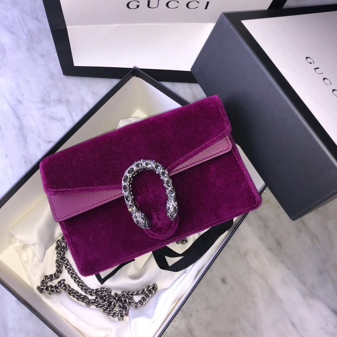 3cb58fb3f10 Gucci Super Mini Dionysus Velvet Magenta