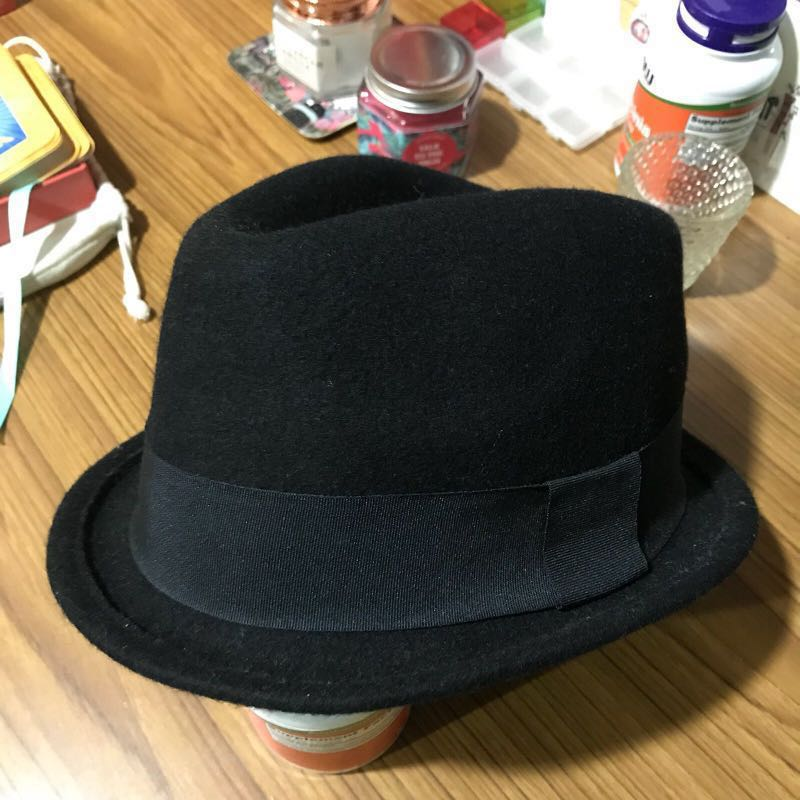 edd5fc2307eaf H&M Black Fedora Hat, Men's Fashion, Accessories, Caps & Hats on ...