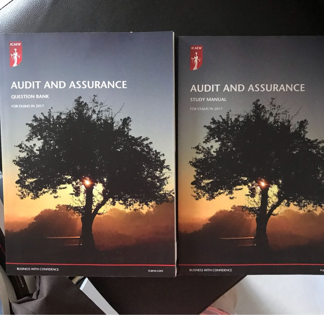 ICAEW Audit & Assurance study book & Question bank, Books & Stationery,  Textbooks, Professional Studies on Carousell