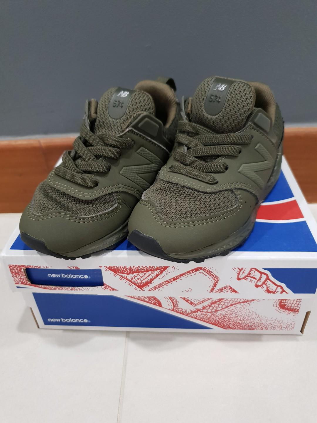 cheap for discount 5143f 6e7ad New Balance 574 - Olive Green, Babies & Kids, Boys' Apparel ...