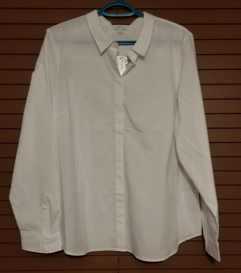 NWT Reitmans Essentials White Blouse