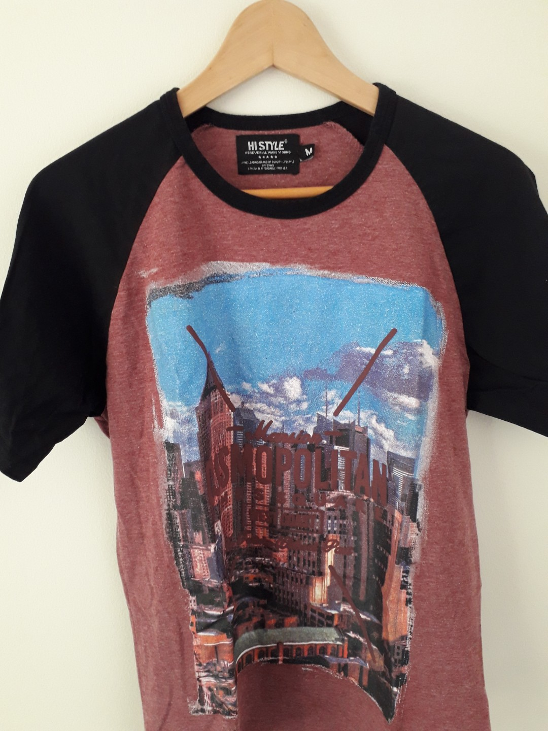 62ca0e922 NYC Graphic Print T shirt, Men's Fashion, Clothes, Tops on Carousell