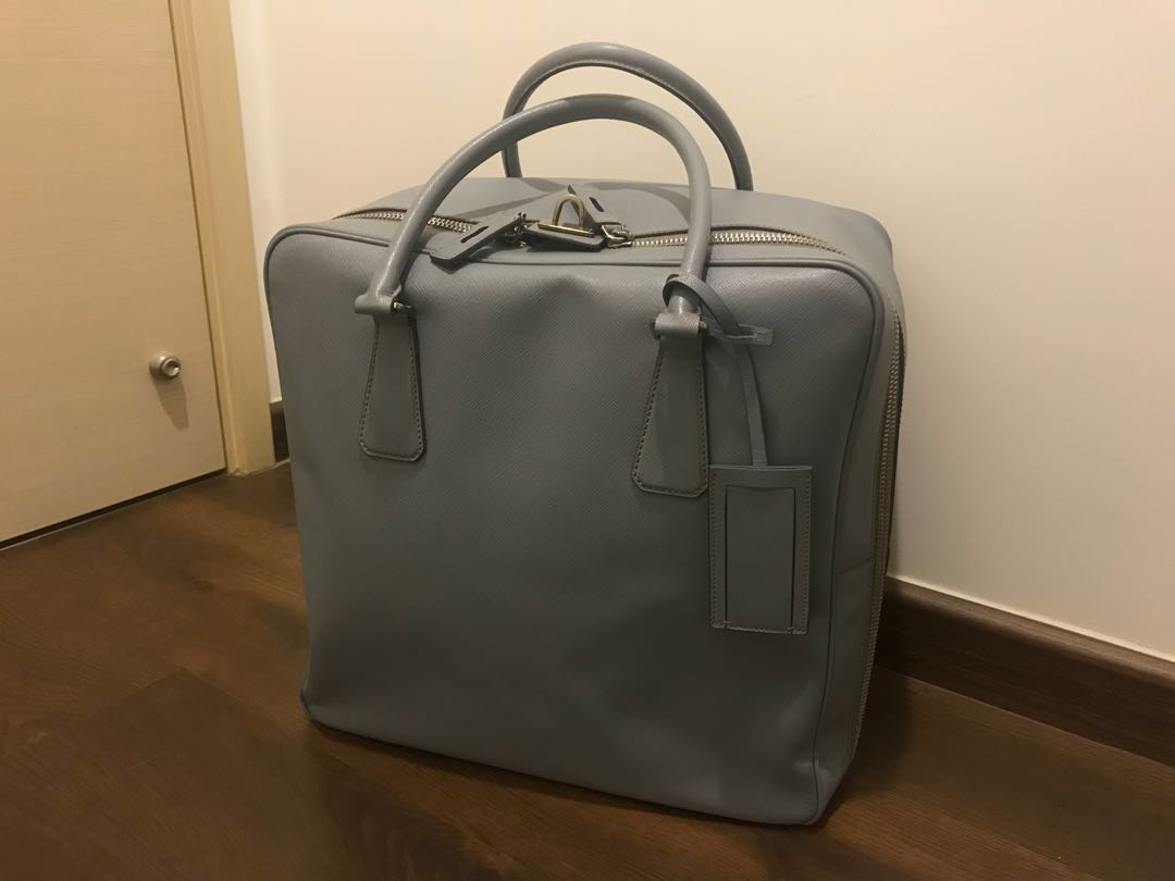 386b1033b7aa3 Prada Saffiano leather travel bag@5XX.00, Luxury, Bags & Wallets, Others on  Carousell