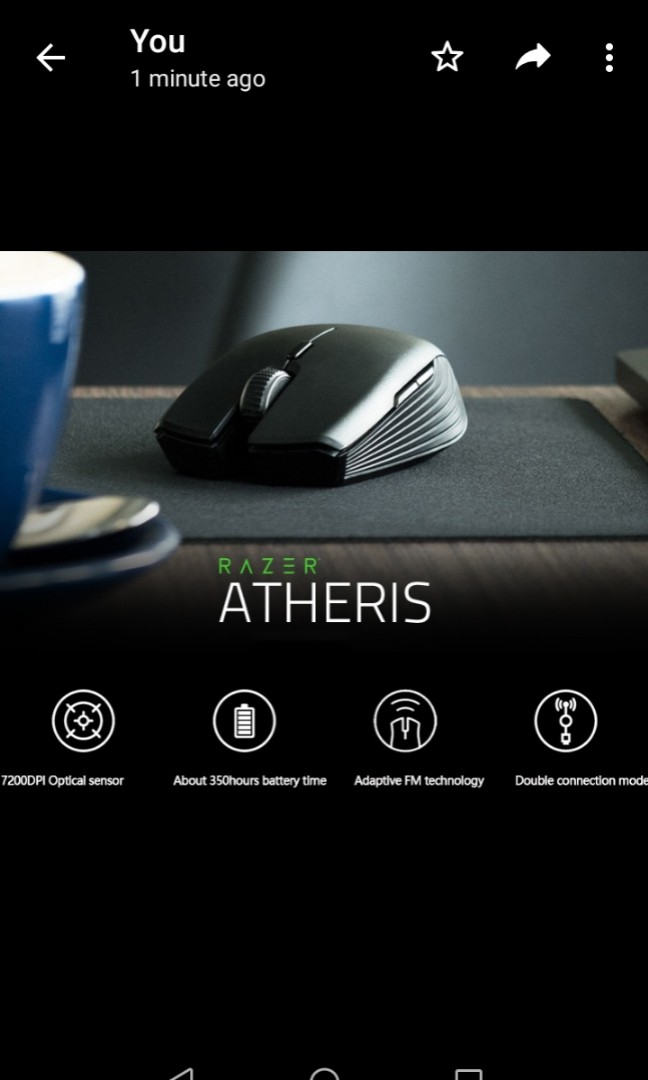 Razer Atheris - Wireless Bluetooth Mobile Mouse