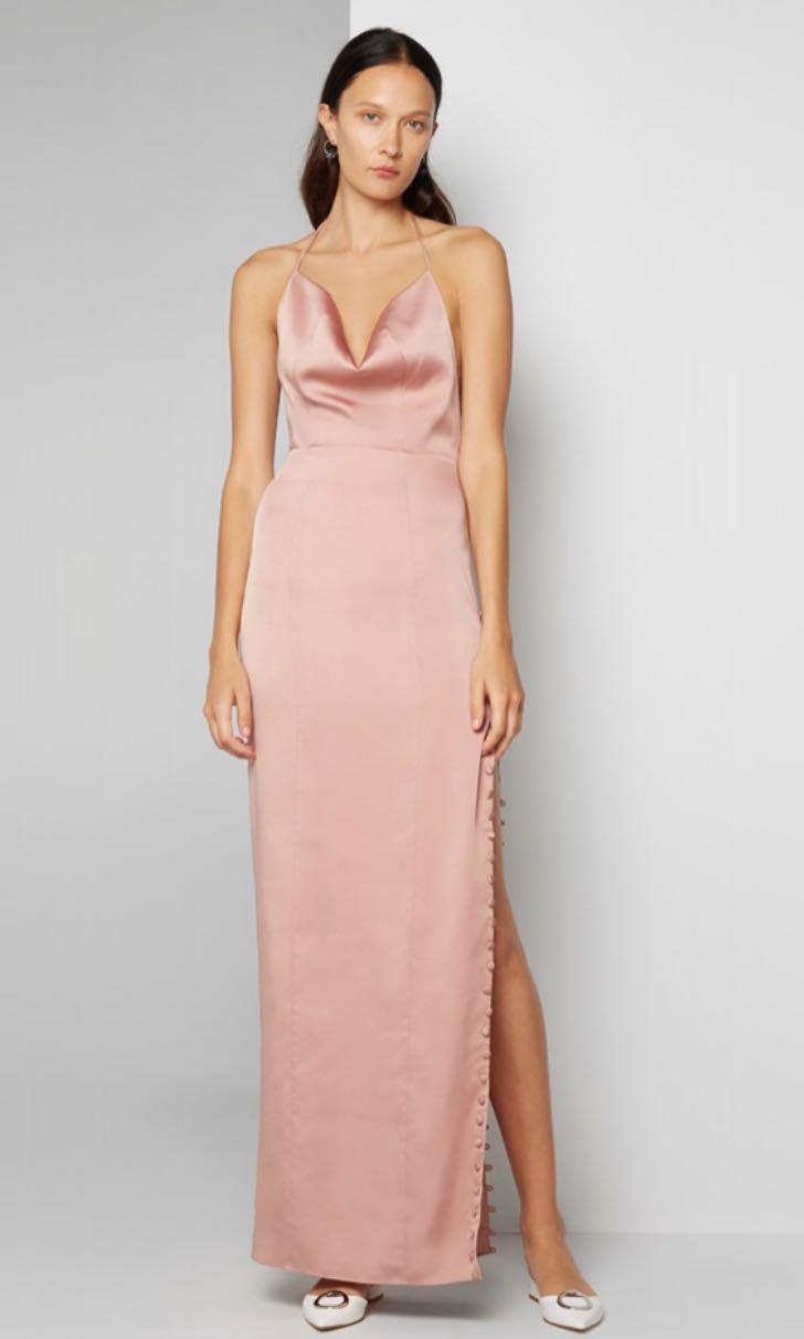 RRP$349 Fame And Partners Tate Cowl Neck Satin Dress THE ICONIC ASOS SHOWPO MURA