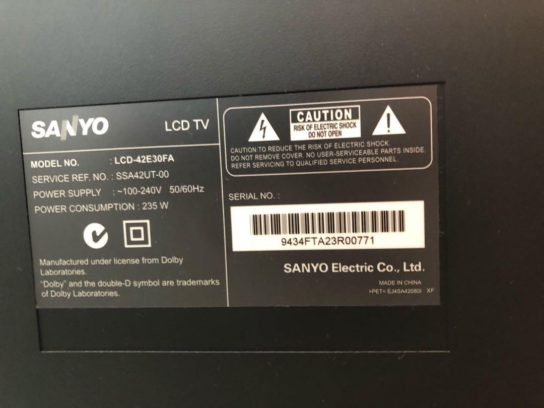 Sanyo TV, Electronics, TVs & Entertainment Systems on Carousell