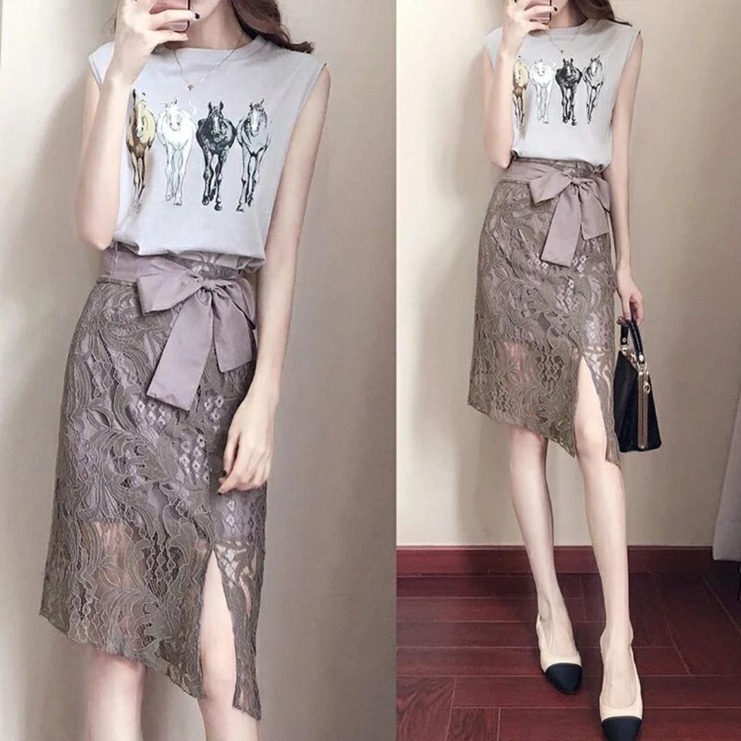 Summer New 2018 Suit Korean Fashion Style Lady Ladies Temperament