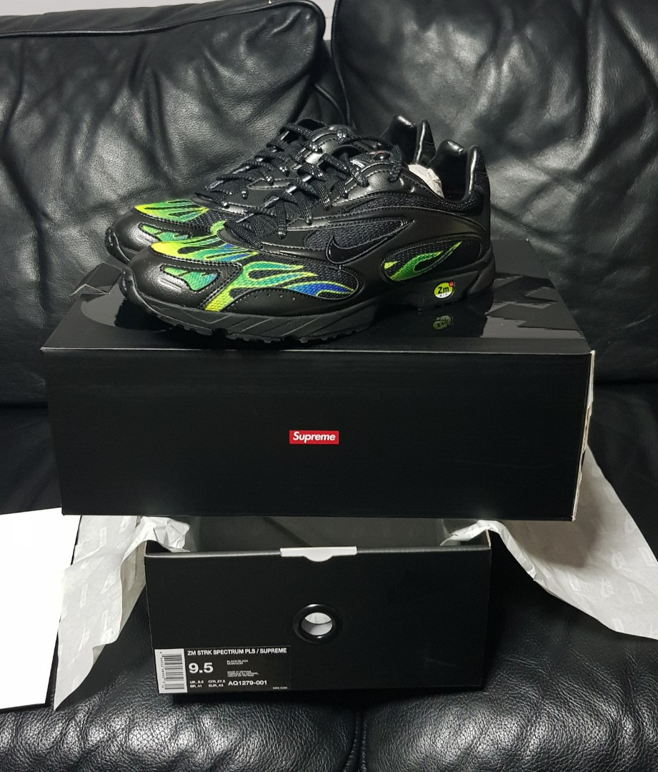 565f37c30f9d Supreme x Nike Zoom Streak Spectrum Plus Black US9.5