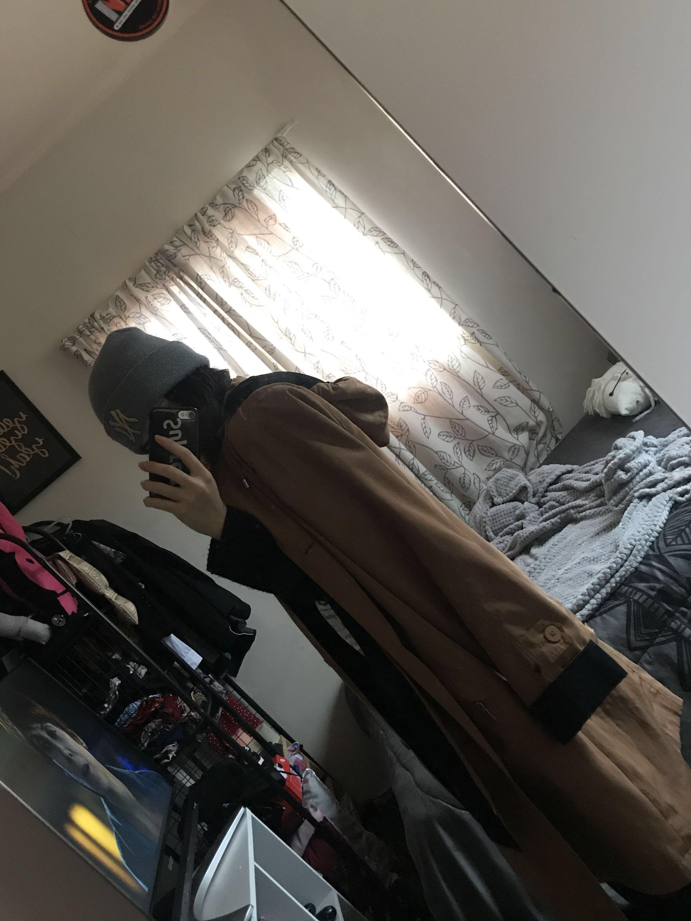 Virgo rainwear trench coat.