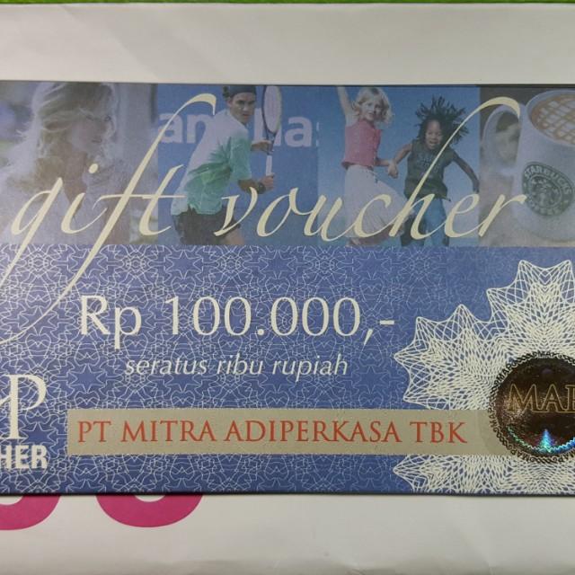 5 lembar voucher hypermart @100.000. Source. ' photo photo photo photo photo