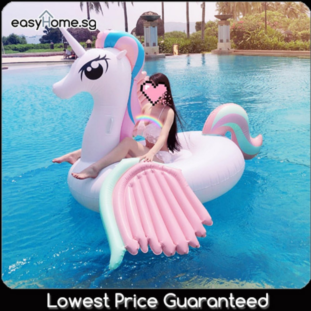 Wings of the Unicorn- Giant Adult Swimming Pool Float Large Size #CarouPay