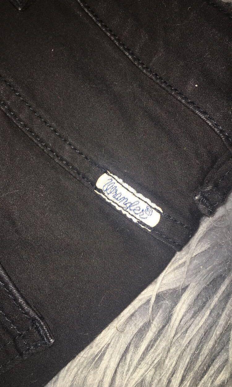 Wrangler black denim pencil skirt