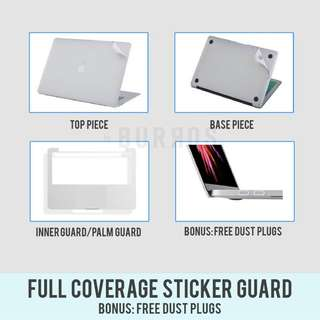 📣INSTOCKS📣 Full Coverage Macbook Sticker Guard Protector Set available for all models