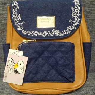 日本 snoopy 刺繡背包/袋